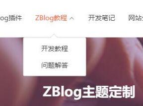 怎样设置ZBlog二级导航的具体代码