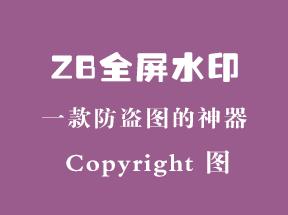 zblogPHP全屏水印插件防盗图神器上线